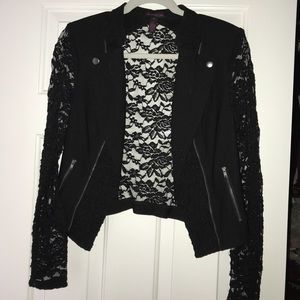 Sheer black lace Blazer